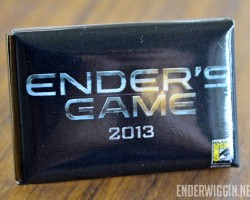 GIVEAWAY: Ender's Game Pins from SDCC 2012