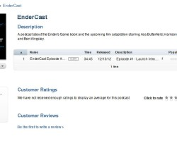 EnderCast Now on iTunes