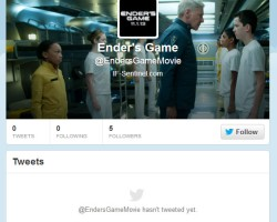Follow the Official Ender's Game Twitter @EndersGameMovie