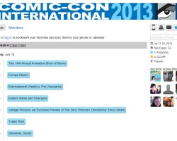 Comic Con 2013 Thursday Schedule Released