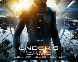 GIVEAWAY: Ender's Game Poster Signed by Asa, Hailee, and Producers