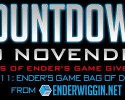 Countdown to NovEnder Day 11: Ender's Game Comic Con Bag