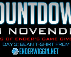 Countdown to NovEnder Day 3: Bean T-Shirt