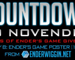 Countdown to NovEnder Day 8: Ender's Game Movie Poster