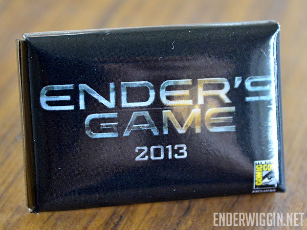 SDCC12 Ender's Game Pin