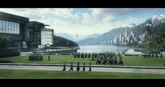 An International Fleet school on Earth. Image courtesy of Summit Entertainment.