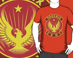 Phoenix Army T-Shirt by Darian Robbins