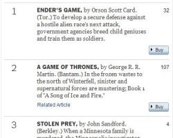 'Ender's Game' Back on Top – #1 on NYT Bestseller List