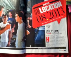 Behind the Scenes Photo from 'Ender's Game' in Empire Magazine