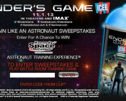 Ender's Game and ICEE Launching 'Train Like an Astronaut' Sweepstakes