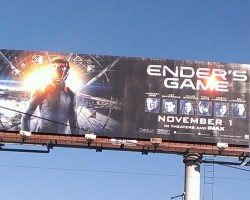 SPOTTED: Ender's Game Buses, Billboards, and More