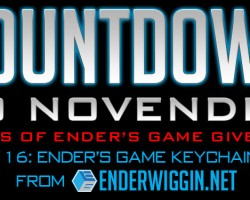 Countdown to NovEnder Day 16: Ender's Game Keychains