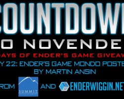 Countdown to NovEnder Day 22: Ender's Game Mondo Poster